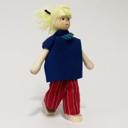 Mutter, Bluse-blau, Haare...