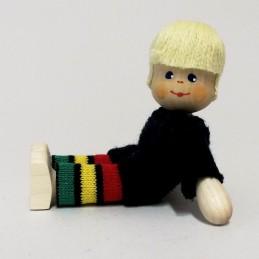 Junge, Pullover, Haare blond