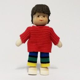 Junge, Pullover, Haare braun