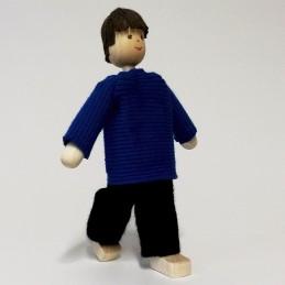 Vater, Pullover-blau, Haare...