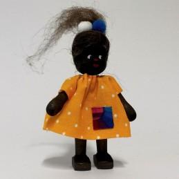 Mädchen aus Afrika, Kleid-gelb