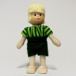 Junge, Hemd-grün