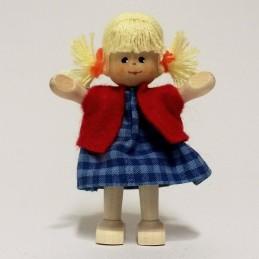 Mädchen, Weste, Haare blond
