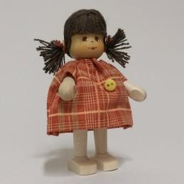 Mädchen, Kleid mit Knopf,...