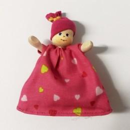 Baby im Schlafsack, pink