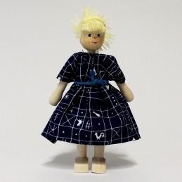 Mutter, Kleid-blau, Haare...