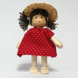 Mädchen, Hut, Zöpfe-braun