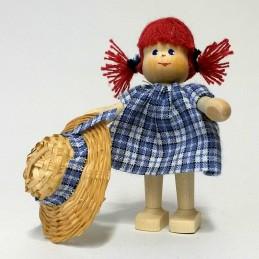 Mädchen, Hut, Zöpfe-rot