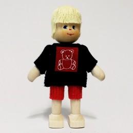 Junge, Shirt mit Teddy